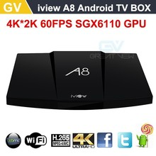 NEW Octa Core iview A8 Android box Android 5.1 Lollipop 4K H.265