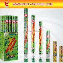 Tirador de confeti Popper del partido con colores de papel de aluminio