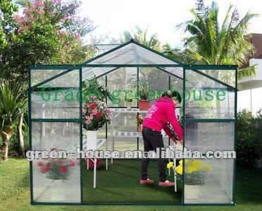 88G Grace top quality aluminium easy grow Green House cold frame glass house sun house GARDEN HOUSE walk in greenhouse