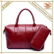 2pcs Composite Genuine Leather 2015 Korea Fashion Ladies Handbag