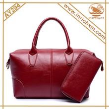 2pcs Genuine Leather 2015 Korea Fashion Ladies Handbag