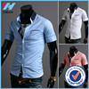 Sale Real Special Offer 2015 Summer Short Casual Shirts Cotton Flannel Open Stitch Men's Clothing Shirt Male Top