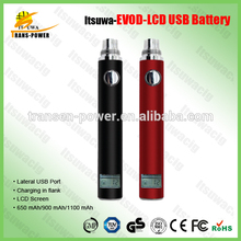 Factory price e cigarette charging in flank battery Lcd Micro Usb Battery