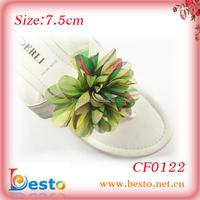 Fabric shoe flower for high-heeled slippers chiffon shoe flower