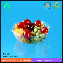 Transparent Plastic Container for fruit packaging/ Disposable food grade packaging