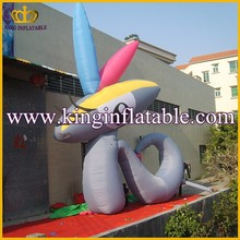 Good Quality Large Portable Inflatable Rabbit Cartoon, Oudoor Advertising Character