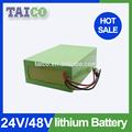 24v 50ah de iones de litio de la batería pack