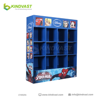 Retail Corrugated Cardboard floor stand clothes Display