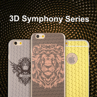 High qualty soft TPU customized design wholesale mobile accessories 3D phone case for iPhone 6