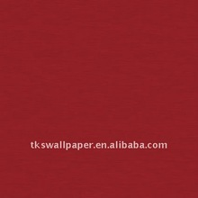 High quality Red color non-woven wallpaper wall covering