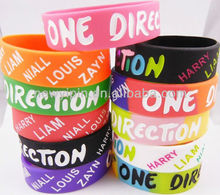 ONE DIRECTION 1D silicone wristband rubber band with HAPPY/ LIAM/ NIALL/ LOUIS/ ZAYW