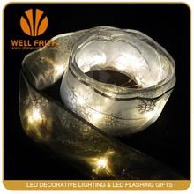 Luxuriant delicate workmanship LED silk ribbon string lights for decoration