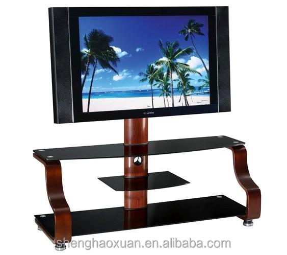 Simple Design Corner Shelf TV Stand Plasma TV Glass Table 7403# Glass ...