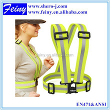 Hot sale reflective safety belt with reflective light running man