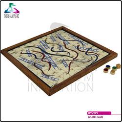 KIY-C075 wooden snake and ladder board game