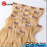 2015 Alibaba Golden Supplier Remy Wholesale 120g 160g 200g 220g russian perm clip in hair
