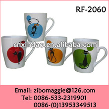 Animal Designed Wholesale Porcelain Decal Cups for Promotional Coffee Cup