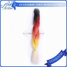 Top quality synthetic hair extensions packaging bag, ombre synthetic hair extension, yaki hair for braids