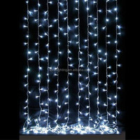 2*3m waterproof outdoor decoration wholesale led curtain light/white led curtain light