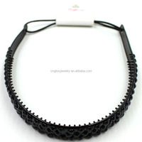Fashion black silicone hair bands with teeth