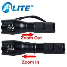 Rechargeable super lighting long time and long distance zoom flashlight