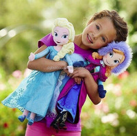 wholesale soft plush stuffed frozen doll anna elsa Hot selling for gifts,competieve price and good quality