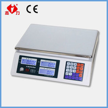 Fruit vegetable weighing scale, price computing scale for sale