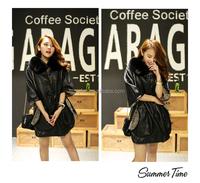 new design winter double faced fur coat women & Korean style soft sheepskin leather jacket coat & girls real rabbit fur coat