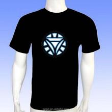 2015 new design Iron man el t-shirt led t-shirt music el t-shirt