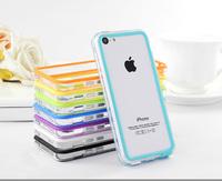 Ultra thin Slim TPU Bumper Frame Cover Case for iPhone 5C