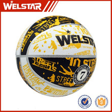 Official weight of basketball, multi color custom rubber basketballs