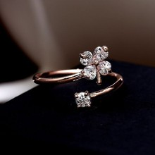 2015 fashion design flower combination of personalized ring / silver metal Zircon rings