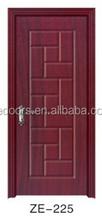 2015 New design PVC mdf wooden interior toilet flat standard door latest simple design wooden door nigeria for classroom