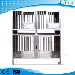 LTVC006 High quality Stainless steel double-deck Pet cage for sale