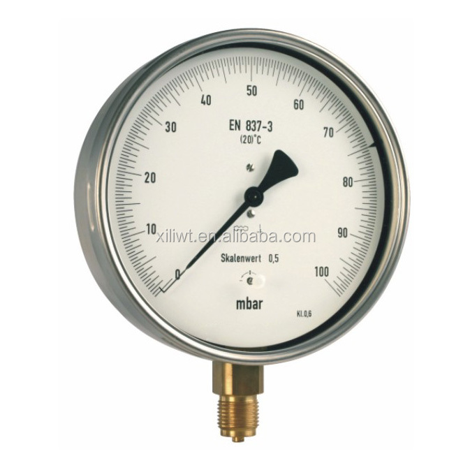 High Pressure Vacuum Gauge : Shanghai high quality vacuum pressure gauge with liquid