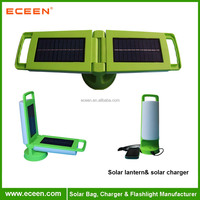 12 PCS LED solar camping lantern with mobile charger