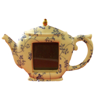 Ceramic Teapot Table Top Photo Picture Frame Holds Photo