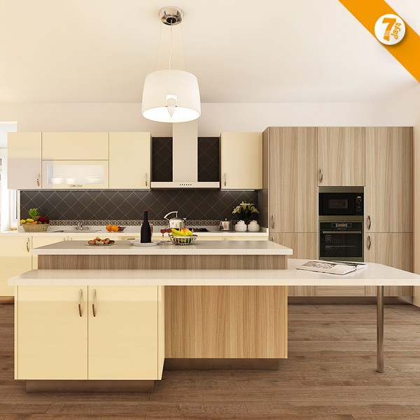 7 days delivery affordable modern laminate sheet kitchen for Affordable modern kitchen cabinets