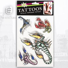 Cool design scorpion 3D temporary tattoo sticker wholesale supply