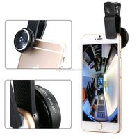 Universal circle clip 235 degree super fisheye lens camera lens for galaxy note 2