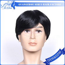 New product good looking male training mannequin head wig,synthetic non-remy wigs,hairpiece wigs for men