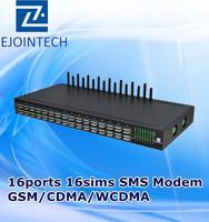 16 channels goip gsm/cdma/wcdma modem 64 sip sms gateway
