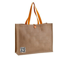 2015 Custom Made Handle Plain Burlap Jute Tote Bags
