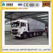 sinotruk cargo car cargo box howo truck refrigerator van truck used freezer