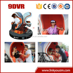 Virtual reality 9d immerse cinema with 360 degrees viewing angle image