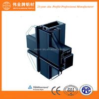 Node diagram hollow aluminium extrusion curtain wall profile