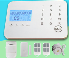 Touch key PSTN/GSM dual network wireless home burglar alarm