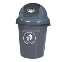 80L 110L round lid plastic garbage bin,outdoor trash bin, public bin