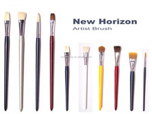 Artist quality round synthetic hair paint brush set art brushes with supermarket price