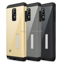 Hybrid Armor Case For Samsung Galaxy Note 4, pc+tpu Dustproof back cover case For Samsung Note 4 N9100